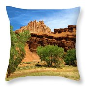 Cottonwood Castle Throw Pillow