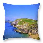 Coumeenoole Beach, Dingle Peninsula, Co Throw Pillow