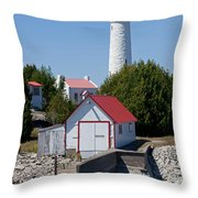 Cove Island Lighthouse Throw Pillow