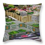 Covent Garden Flower Market Throw Pillow