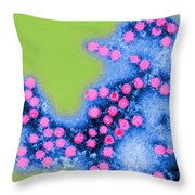 Coxsackie B4 Virus, Tem Throw Pillow
