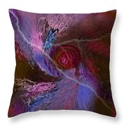 Creation Of A Rose  Throw Pillow