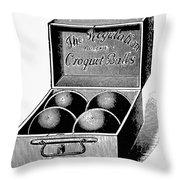 Croquet, C1900 Throw Pillow
