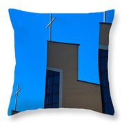 Crosses Of Livingway Church Throw Pillow