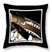 Curtiss P-40n Warhawk Throw Pillow