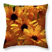 Cutleaf Tiger Eye Throw Pillow