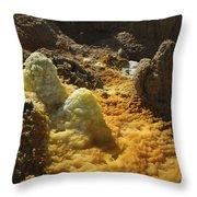 Dallol Geothermal Area, Danakil Throw Pillow