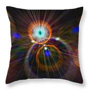 Digital Speed Art Throw Pillow