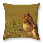 Digitally Enhanced Image With Painterly Throw Pillow