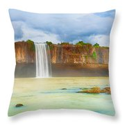 Dry Nur Waterfall Throw Pillow
