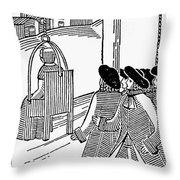 Ducking Stool Throw Pillow