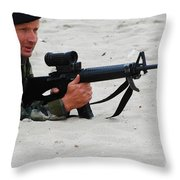 Dutch Royal Marines Taking Part Throw Pillow
