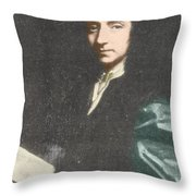 Edmond Halley, English Polymath Throw Pillow