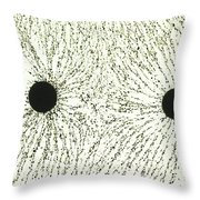 Electric Field Lines Throw Pillow