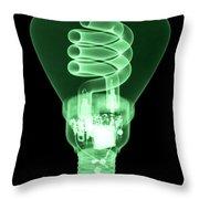 Energy Efficient Light Bulb Throw Pillow