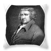 Erasmus Darwin, English Polymath Throw Pillow