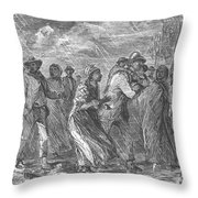 Escaping To Underground Railroad Throw Pillow