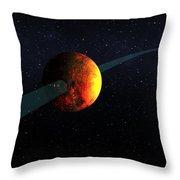 Exoplanet, Kepler-10b Throw Pillow