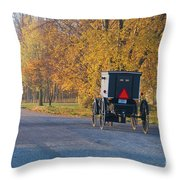Fall Buggy Throw Pillow