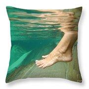 Feet Under The Water Throw Pillow