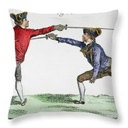 Fencing, 18th Century Throw Pillow