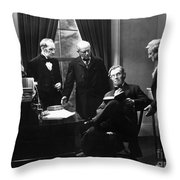 Film Still: Abraham Lincoln Throw Pillow