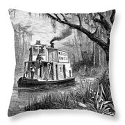 Florida: St. Johns River Throw Pillow by Granger