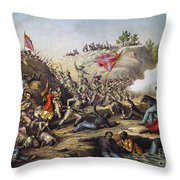 Fort Pillow Massacre, 1864 Throw Pillow by Granger