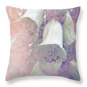 Foxgloves Throw Pillow