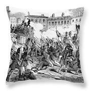 France: Revolution, 1848 Throw Pillow