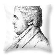 Franz Mesmer, German Physician Throw Pillow
