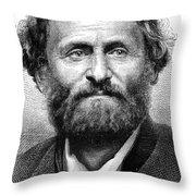 Frederick Gerstaecker Throw Pillow