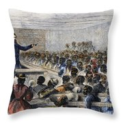 Freedmens Village, 1866 Throw Pillow