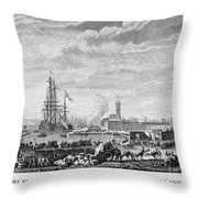 French Revolution, 1790 Throw Pillow