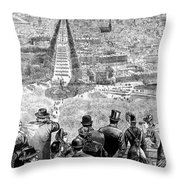 Garfield Inauguration, 1881 Throw Pillow by Granger