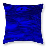 Gentle Giant In Negative  Blue Throw Pillow