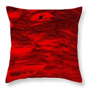 Gentle Giant In Negative Red Throw Pillow