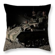 German Army Crew In A Wiesel 1 Atm Tow Throw Pillow