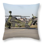 German Tiger Eurocopter At Fritzlar Throw Pillow
