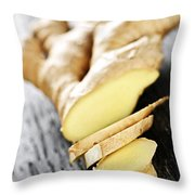 Ginger Root Throw Pillow