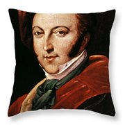 Gioacchino Rossini Throw Pillow by Granger
