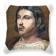 Giovanni Boccaccio Throw Pillow