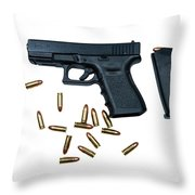 Glock Model 19 Handgun With 9mm Throw Pillow