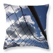 Goal Against Cloudy Sky. Throw Pillow