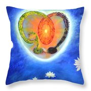 God Lives In My Heart Throw Pillow