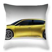 Gold Lexus Lf-ch Hybrid Car Throw Pillow