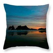 Golden Morning At A Beach  Throw Pillow