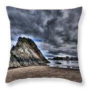 Goscar Rock Tenby Throw Pillow