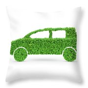 Green Car Throw Pillow