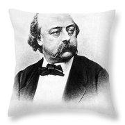 Gustave Flaubert (1821-1880) Throw Pillow